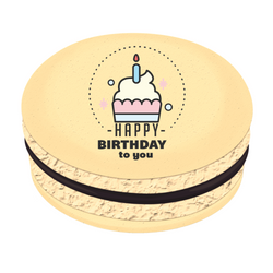 Happy Birthday To You Crown Printed Macarons
