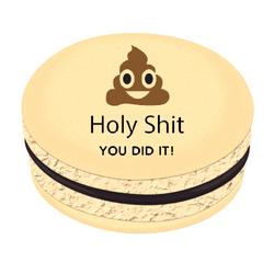 Holy Shit Polka Dots Printed Macarons