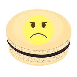 Angry Face Printed Macarons