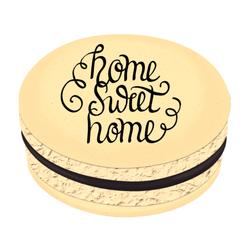Black Home Sweet Home Printed Macarons