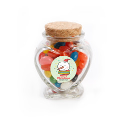 Merry Christmas Snowman Christmas  Heart Glass Jar