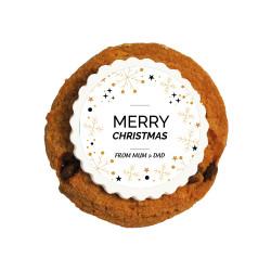 Merry Christmas 6 Christmas Printed Cookies