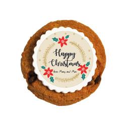Happy Christmas Printed Cookies