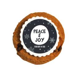 Peace & Joy Christmas Printed Cookies