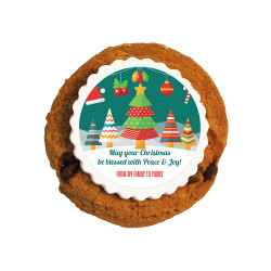 Be Blessed Christmas Printed Cookies
