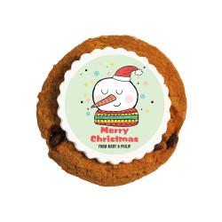 Merry Christmas Snowman Christmas Printed Cookies