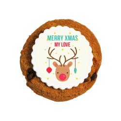 Merry Xmas My Love Christmas Printed Cookies