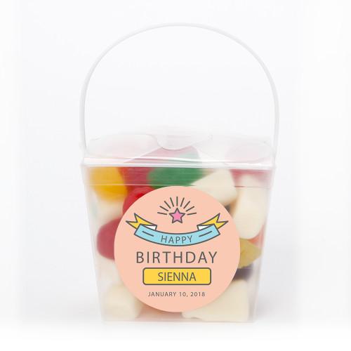 Pink Birthday Noodle Box