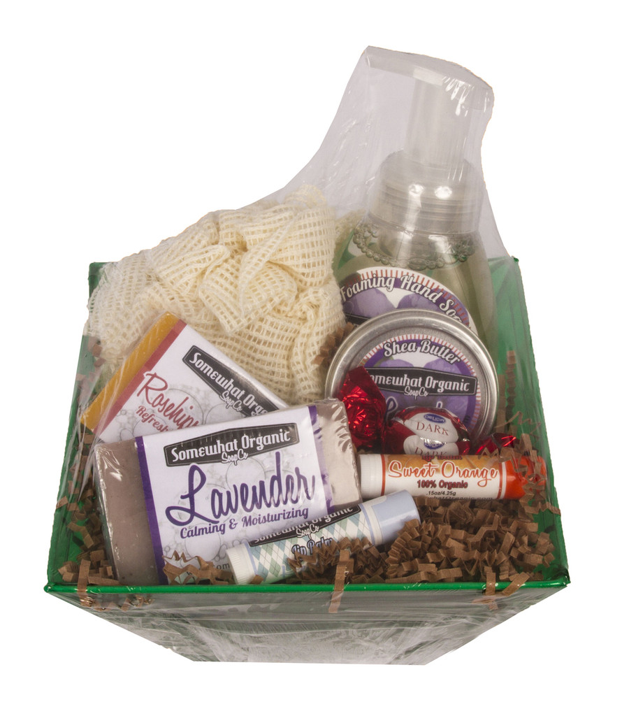 "SMALL ""Favorites Soap Sampler"" Organic Gift Basket"