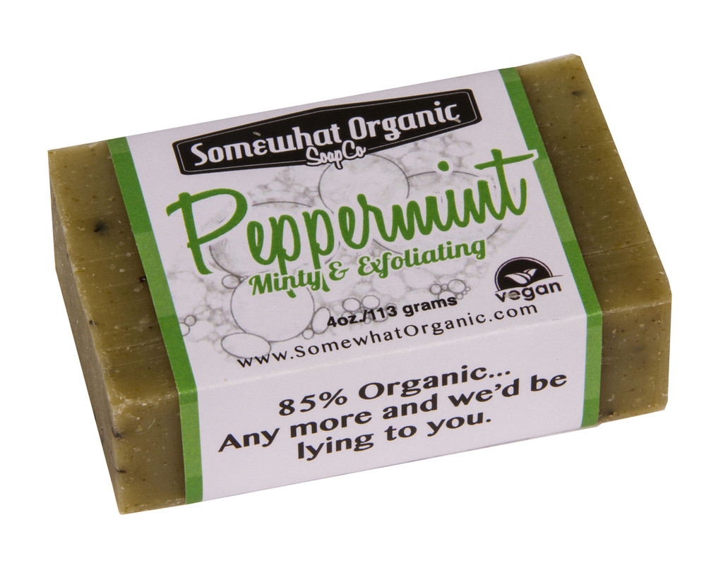 Peppermint Organic Soap - 4 oz Bar