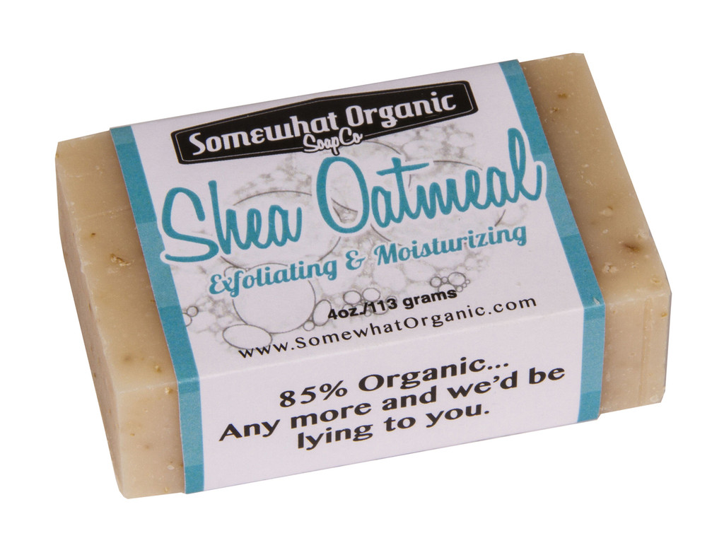 Shea Oatmeal Organic Soap - 4 oz Bar
