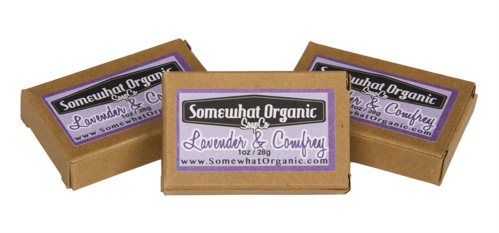 Lavender & Comfrey Organic Soap - 1 oz. Mini Bar