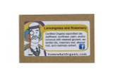 Lemongrass & Rosemary  Organic Soap - 1 oz. Mini Bar