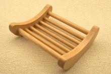 Curved Dowel Beech Wood Soap Dish