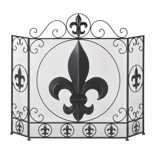 Accent Plus Fleur-de-lis Fireplace Screen