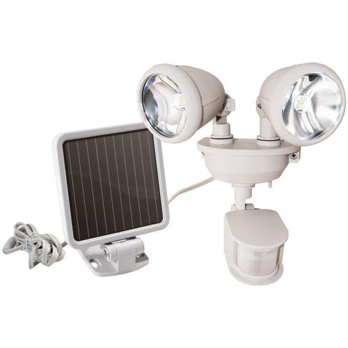 MAXSA INNOVATIONS Maxsa Innovations Dual-head Solar Spotlight off White