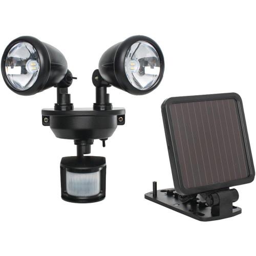 MAXSA INNOVATIONS Maxsa Innovations Solar-powered Dual-head Led Security Spotlight black
