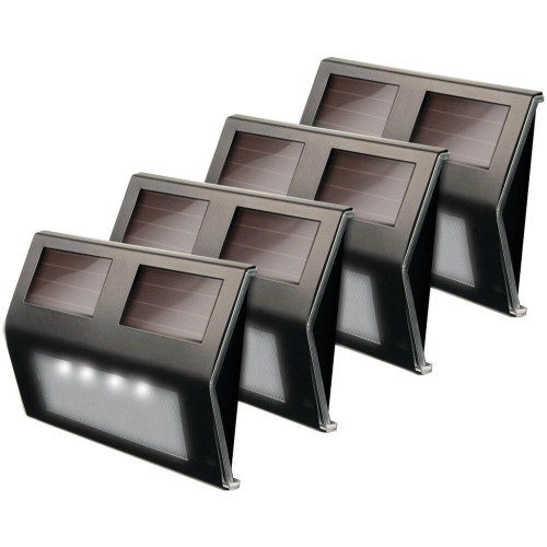 MAXSA Maxsa Innovations Solar Led Deck Lightand#44; 4 Pk bronze Finish
