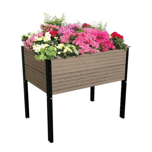 Farmhouse 38in x 26in x 33 in Elevated Planter Raised Garden Bed