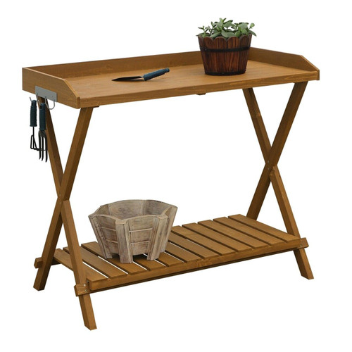 Outdoor Garden Table Potting Bench with Slatted Bottom