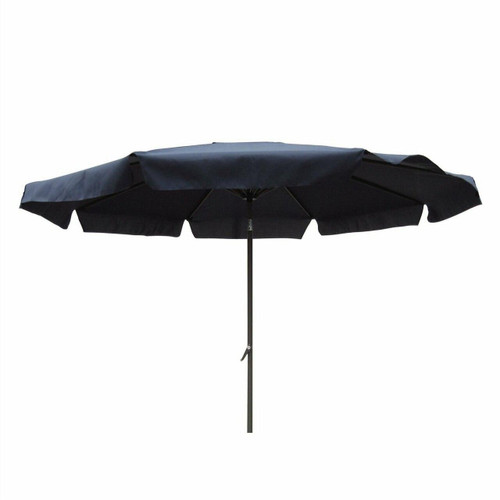 FastFurnishings Black Polyester 8-Ft Patio Umbrella with Aluminum Pole and Crank Tilt