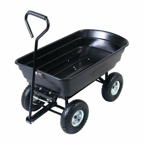 FastFurnishings Black Wagon Heavy Duty Dump Cart Dumper