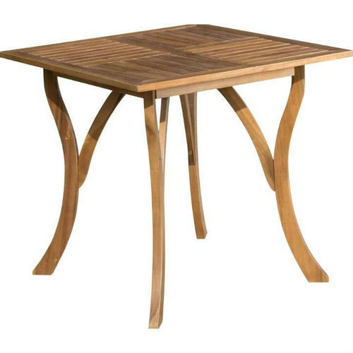 FastFurnishings Outdoor Solid Wood 31.5 inch Square Patio Dining Table