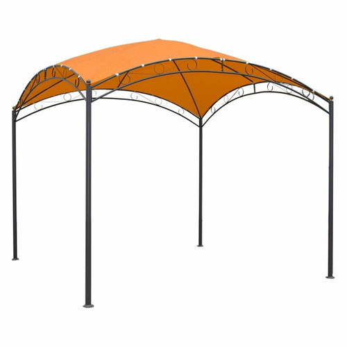 FastFurnishings 10Ft x 10Ft Dome Top Gazebo Shade Tent Bronze Terra Cotta