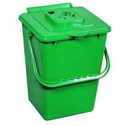FastFurnishings 2.4 Gallon Kitchen Composter Compost Waste Collector Bin - Green