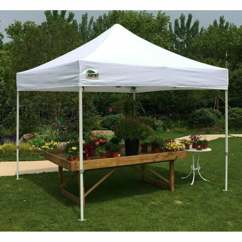 FastFurnishings Outdoor Pop Up 10 x 10 Ft Gazebo with White Canopy