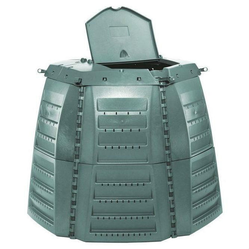 FastFurnishings Green Recycled Plastic 267 Gallon Compost Bin for Home Composting