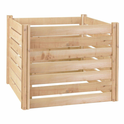 FastFurnishings Outdoor 174-Gallon Wooden Compost Bin made from Eco-Friendly Cedar Wood