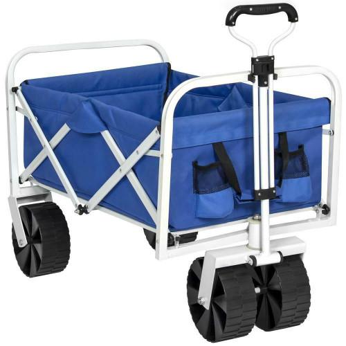 FastFurnishings Folding Sturdy Utility Wagon Garden Beach Cart