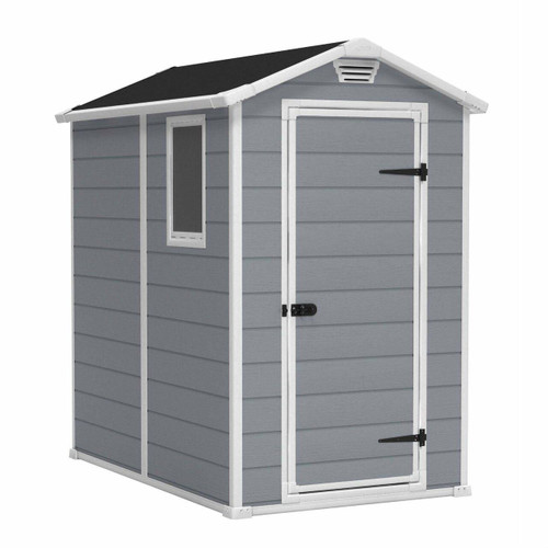 FastFurnishings Ventilated Top Plastic Shed for Outdoor Lawn Garden Tool Storage