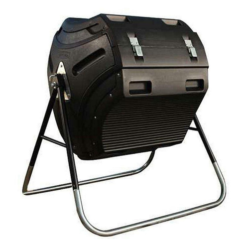 FastFurnishings Heavy Duty HDPT Plastic 10 cubic ft Compost Bin Tumbler with Steel Stand