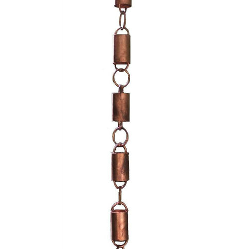 FastFurnishings Solid Copper 8.5 Ft Rain Gutter Rain Chain
