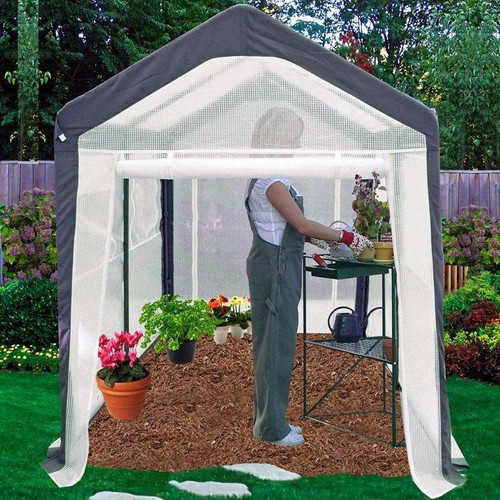 FastFurnishings Home Gardener Portable Greenhouse 6 x 8