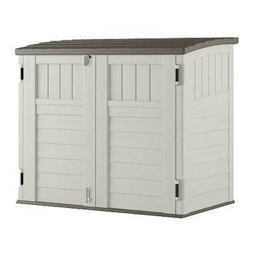 FastFurnishings Outdoor 4-ft x 2-ft Locking Storage Shed with Easy Lift Lid