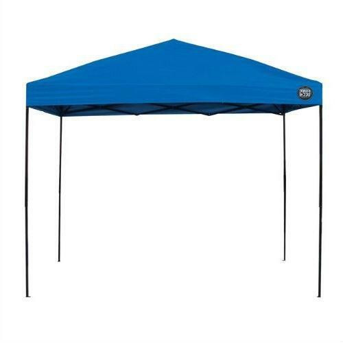 FastFurnishings 10-Ft x 10-Ft Blue Fabric Top Canopy with Wheeled Carry Bag