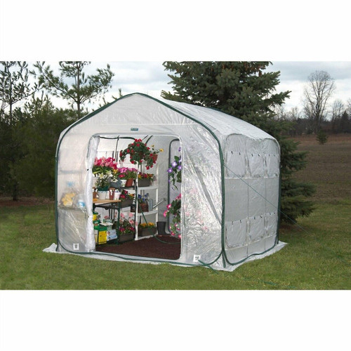 FastFurnishings Farm-House 9-ft Home Garden UV Resistant Greenhouse