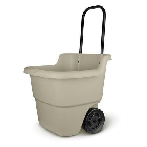 FastFurnishings Sturdy Lawn Cart Mini Bucket 15 Gallon Wheelbarrow