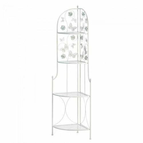 Accent Plus Butterfly 4-tier Corner Rack