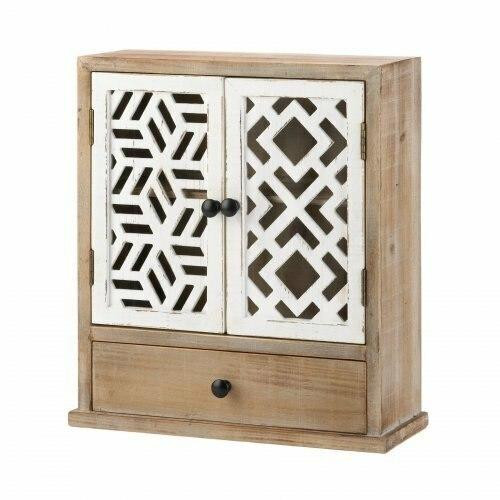 Accent Plus Geo Pattern Wall Cabinet