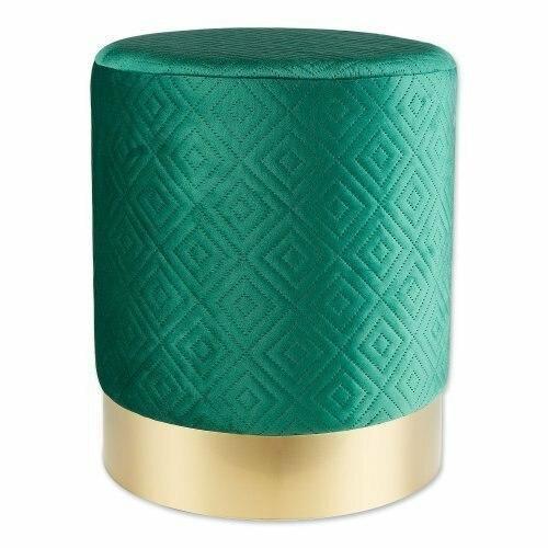 Accent Plus Green Velvet Stool