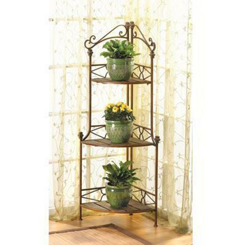 Accent Plus Rustic Corner Baker s Rack