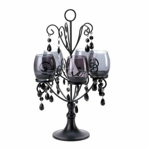 Accent Plus Black Elegant Candelabra