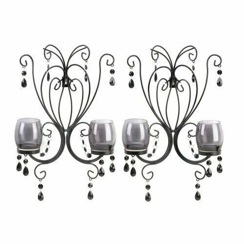 Accent Plus Black Elegant Wall Sconces