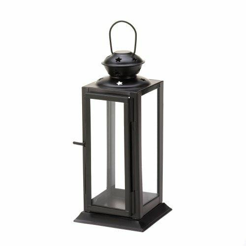 Accent Plus Black Colonial Rectangle Lantern