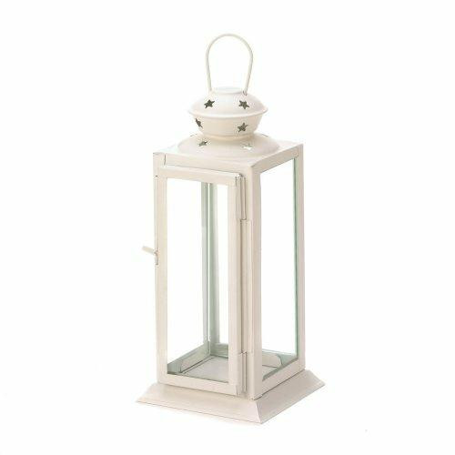 Accent Plus White Colonial Rectangle Lantern