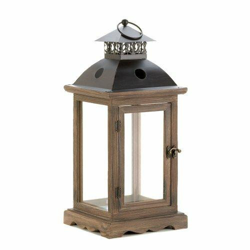 Accent Plus Large Rustic Wood Lantern